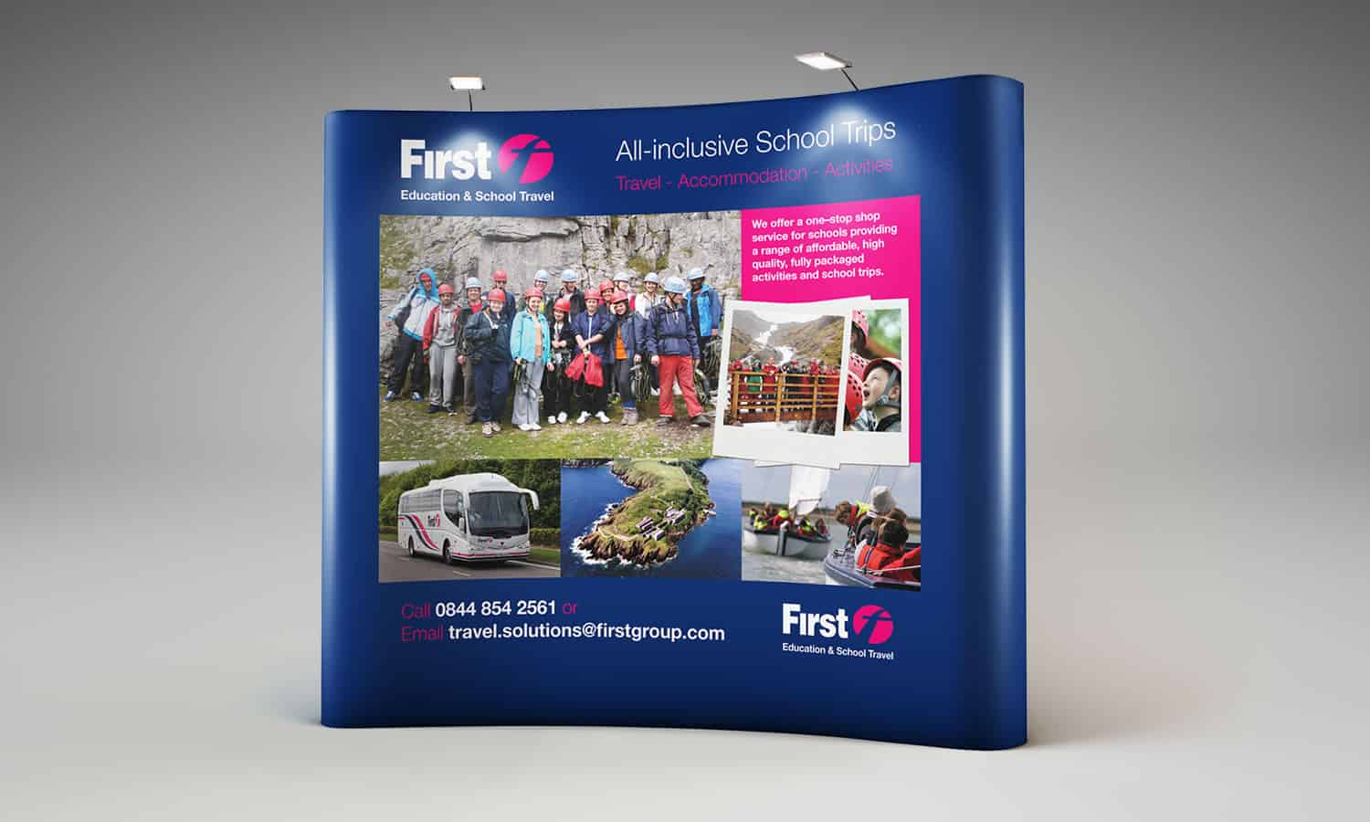 First Education & School travel exhibition stand