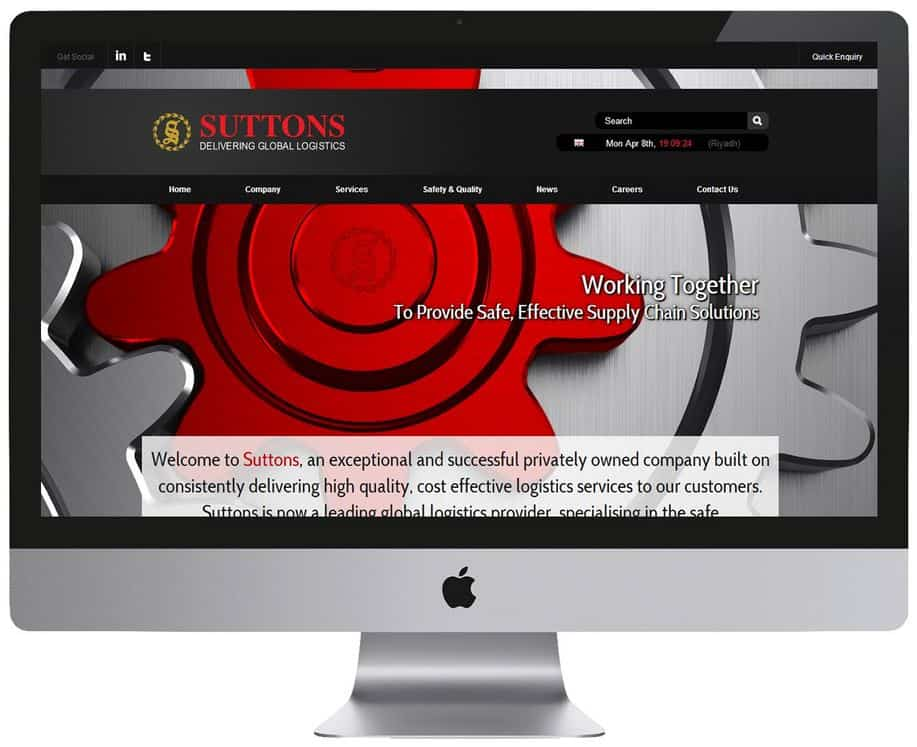 Suttons International Corporate Website