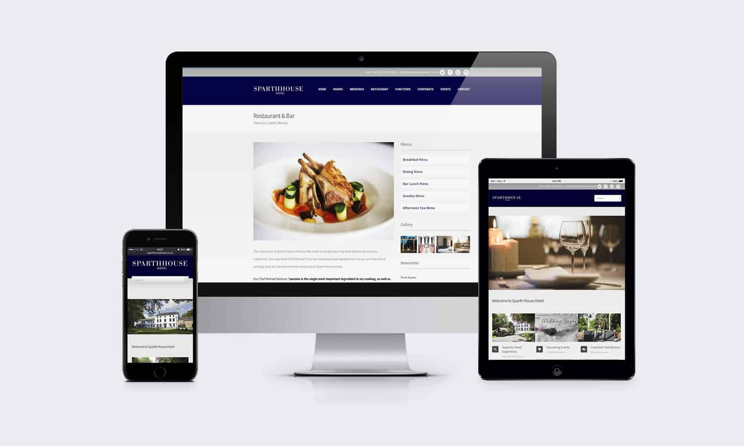 Sparth House Hotel Multi Platform Website