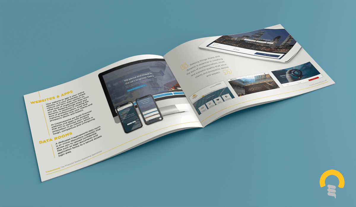 Creativeworld Financial Services Marketing Brochure