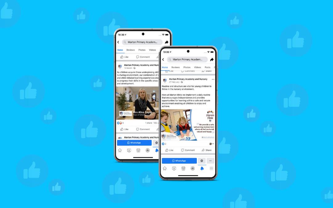 Social media content for schools
